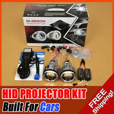 "3.0"" Universal Headlight BI-Xenon HID Projector Lens Kit Angel Eye Halo 6000K"