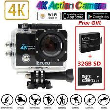 "SJ9000 4K HD WiFi Sports Action Caméra 2.0"" LCD 16MP+2 Batteries Extra +32GB SD"
