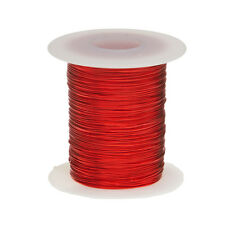 "21 AWG Gauge Enameled Copper Magnet Wire 4oz 100' Length 0.0296"" 155C Red"