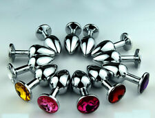 New Plug Metal Medium Anal Butt Beads Stainless Steel Plated Jewel Stopper