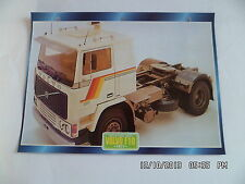 CARTE FICHE CAMION TRACTEUR CABINE AVANCEE VOLVO F10 1977