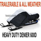 """Deluxe NEW Snowmobile Sled Cover 600D TRAILERABLE Heavy Duty up to 100"""" SNM1316"""