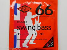 Rotosound RS66LB Swing Bass Guitar Set Stainless Steel Roundwound 35-90 Gauge