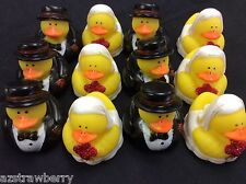 Bride & Groom Wedding Rubber Ducks Lot of 6 doz or 72 pc Party favor Gift 2""
