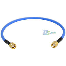 "12"" RP-SMA Male - Male RF Coax Semi-rigid RG402 0.141"" Jack Pigtail Coax. Cable"