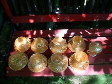 Anchor Hocking Fire King Suburbia Lustre Shell 18 Piece Tea Set 1950's Vintage