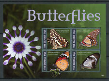 Gambia 2014 MNH Butterflies II 4v M/S Insects Swallowtail White Lady Monarch