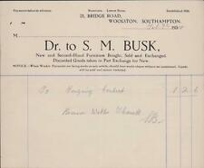 Woolston, Southampton. S M Busk. Second-Hand Furniture. 1924.  zi.40