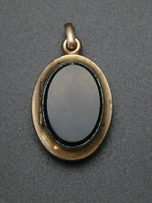 Ancien porte photo pendentif en plaque or et onyx reliquaire