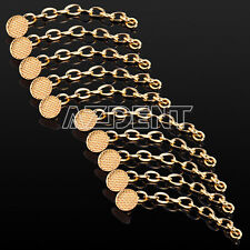 10pcs Dental Orthodontic Traction Chain Golden Plated Round Buttons For Braces C