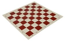 "20"" Vinyl Chess Board – Meets Tournament Standards - Red - 2.25 Inch Squares"