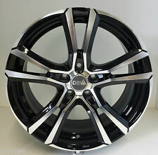 4 Stück DBV Andorra Alufelgen 6,5J*16 ET40 5/100 Schwarz VW Polo 6R 9N 3635314