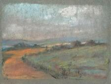 IMPRESSIONIST ENGLISH LANDSCAPE Pastel Drawing MARCUS ADAMS c1950