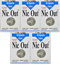 NIC-OUT Disposable Cigarette Filters, 5 Packs - SHIPS SAME DAY