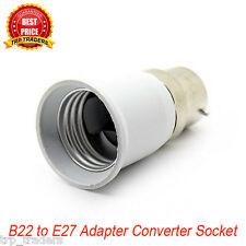 B22 to E27 LED Halogen CFL Light Base Bulb Lamp Adapter Converter Socket Holder