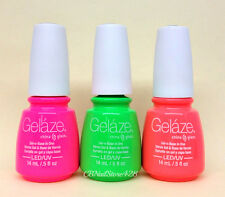 Gelaze by China Glaze - Gel-n-Base In One - SET OF 3 COLORS