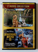 Homeward Bound I & II Disney Live Action Animal Dog Movies 2 Film Collection DVD