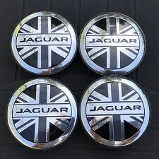 NEW JAGUAR (SET OF 4) 59mm UK FLAG WHEEL CENTER CAPS C2D9611 WC4PC586