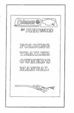 COLEMAN Popup Trailer Owners Manual 1996 Destiny Laredo Sedona Taos Cheyenne