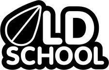 "Old School JDM Decal Sticker Car Truck Window- 6"" Wide White Color"