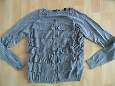 ESPRIT collection schöne Strickjacke mit Volants Gr. M w. NEU  05-13