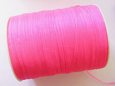 20 Meters Sheer Organza Ribbon - 4mm - Hot Pink