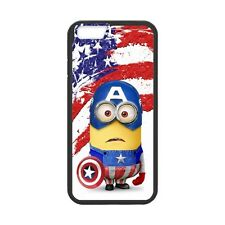 Marvel iPhone 6/6s Cartoon Minions Cosplay Captain America Hard  Cover Case