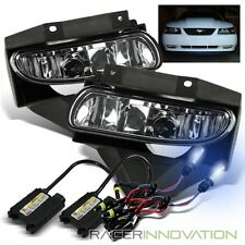 *8000K Blueish White HID* For 99-04 Mustang Clear Lens Fog Lights Driving Lamps