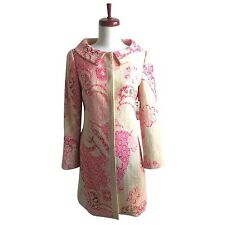 "NWT Elie Tahari ""Lia"" Rose Tweed Floral Paisley Patterned Coat S Small $598"