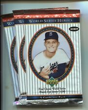 2002 UD WORLD SERIES HEROES Baseball Hobby PACKS Drysdale LOT OF 3
