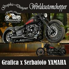 ADESIVO DECAL STICKERS YAMAHA CUSTOM DA SERBATOIO MOTO CUSTOM ACCESSORI