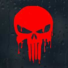 Bloody Red Punisher Skull Car Decal Vinyl Sticker For Window Panel Bumper