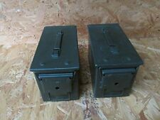2 US Military Issued 50 CAL (M2A1) Ammo Can Box .50 Caliber Surplus Ammunition X