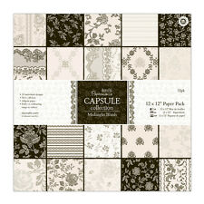 "Papermania 12 x 12"" scrapbooking capsule collection 32 sheets Midnight blush"