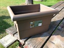 """LOT 6 OVER THE RAIL PLANTER 16"""" FLOWER POT BOX WINDOW BROWN 4"""" OR 6"""" DECK PATIO"""
