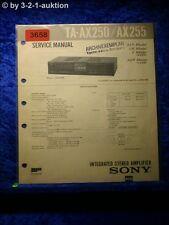 Sony Service Manual TA AX250 / AX255 Amplifier (#3658)