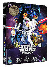 Star Wars Trilogy-6 DVD-Rare OOP Tin Box-1977,1980 & 1983 Theatrical+Remastered