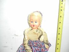 VINTAGE ANTIQUE OLD DOLL DUTCH GIRL CLOTH & CELLULOID GUND OOAK CLOTHES 1950 ??