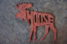 Moose Woodland  Wood Animal Christmas Rustic Ornament Gift Tag  USA