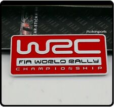 WRC World Rally Badge Emblem Sticker STI WRX Turbo Car Impreza red Subaru 99r