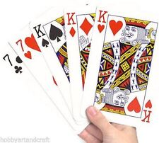 Big Jumbo Playing Cards Deck Casino Poker Game Magic Trick Family Party Fun Gift