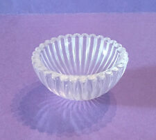 "NEW:  2-1/8"" GLASS  DECORATIVE RIBBED CUP BOBECHE LAMP PARTS"