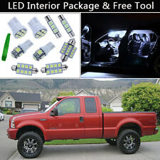13PCS Bulbs White LED Interior Lights Package kit Fit 05-2014 Ford F250-F550 J1