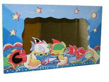 """Farbenfroher Holzspiegel """"Aquarium"""" 60cm x 36cm"""