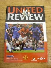 08/12/2001 Manchester United v West Ham United  . Thanks for viewing our item, i