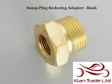 "3/8"" Female to 3/4"" Male BSP Thread Reducer Hex Bushing Pipe Fitting - BRASS"