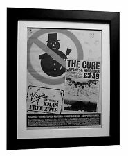 THE CURE+Japanese Whispers+POSTER+AD+RARE ORIGINAL 1983+FRAMED+FAST GLOBAL SHIP