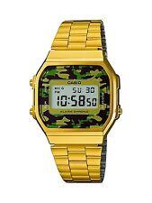 Orologio CASIO unisex A168WEGC-3EF dorato oro Vintage camouflage mimetico