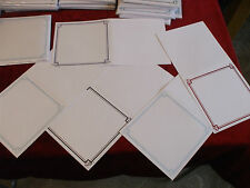 """25 x White with Foiling 6"""" x 6"""" Square Card Blanks and Envelopes [5 colours]"""