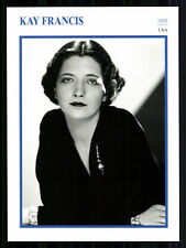 Star Portrait carta-Kay Francis + G 8051